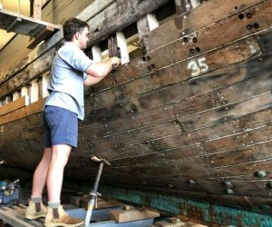 MV Krait being restored Sydney Wood Industries
